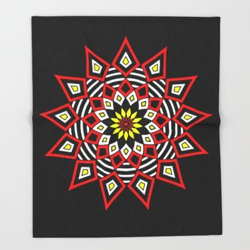 Stars Up to the Sky | Mandhala | Mother Star Throw Blanket by Azima