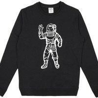 Billionaire Boys Club Astronaut Crewneck Sweatshirt L Black Space 851-8311 Bbc