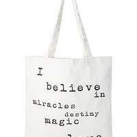 Believe Canvas Tote