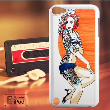Pin Up Girl Tatto Costume iPod Touch 4 Case, iPod Touch 5 Case, iPod Touch 6 Case