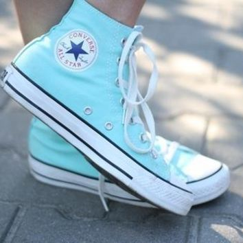 """""""Converse"""" Fashion Canvas Flats Sneakers Sport Shoes White G"""
