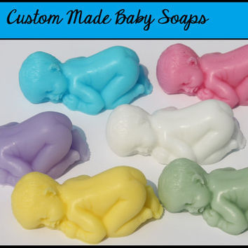 Baby Shower Soap Favors - Scented Baby Soaps for It's A Boy / Girl Baby Shower or First Birthday for Guest Gift - Pack of 25