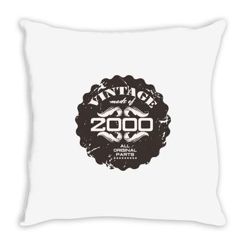 vintage made of 2000 all original parts Throw Pillow