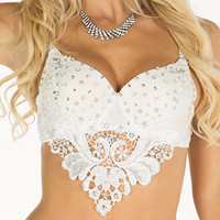 Pearls and Lace Bra Top