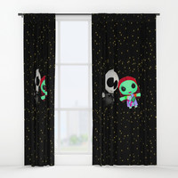 Halloween Babies | Jack | Sally | Christmas | Nightmare Window Curtains by Azima