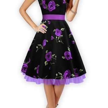 Breakfast at Tiffany's Dress - Purple