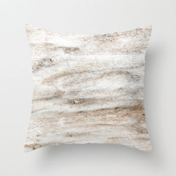 "FREE SHIPPING Soft Driftwood - Beige, Tan, Taupe, White, Ivory - 16 x 16"" Throw Pillow Cover - Ready to Ship"