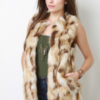 Spotted Faux Fur Vest