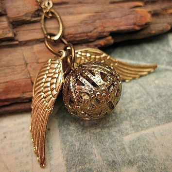 Ornate Golden Snitch Necklace