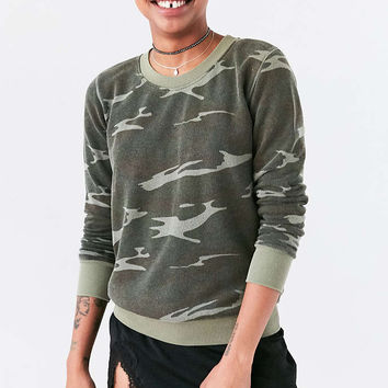 Truly Madly Deeply Hudson Camo Pullover Sweatshirt - Urban Outfitters