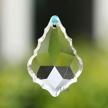 10Piece/lot  Clear French Cut Crystal Prism Pendalogue Chandelier Lamp Accessories Suncatcher Windchimes 1.5*1.2 inches