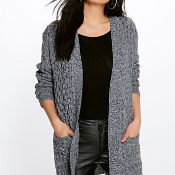 Leah Cable Cardigan with Pockets | Boohoo
