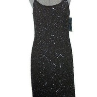 Midnight Stars Bead and Sequin Formal Dress