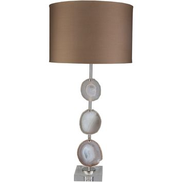 Esker Agate Table Lamp PEARL/COPPER