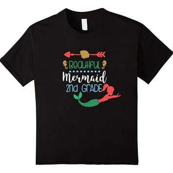 Second Grade Mermaid Girl First Day Back To School T-shirt