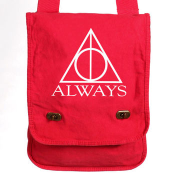 Messenger Bag - Always Harry Potter Canvas White Graphic