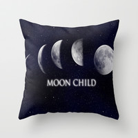 Moon Child Throw Pillow by DuckyB (Brandi)