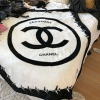 Vip 50 X 60 Chanel Logo Luxury Throw Blanket