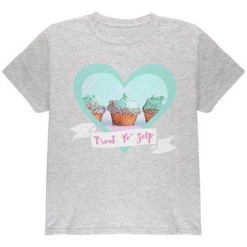 PEAPGQ9 Treat Yo Self Cupcakes Youth T Shirt