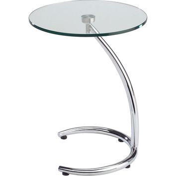 Hastings End Table Glass & Chrome