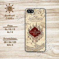 Harry Potter, Marauders Map, iPhone 5 case, iPhone 5C Case, iPhone 5S case, iPhone 4S Case, Phone Case, Samsung Galaxy S3, Samsung Galaxy S4
