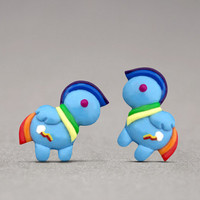 Rainbow Dash Stud Earrings - Inspired By My Little Pony, Kids Jewelry, Fun Accessories