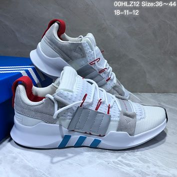 KUYOU A358 Adidas EQT-7 Climacool Mesh Running Shoes White Grey Red