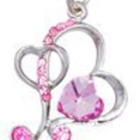 Cross Hearts (Pink) Cellphone Charm CH290PK for Siemens cell