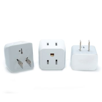 Japan, Philippines Travel Adapter - Type A - Ultra Compact (CT-6, 3 Pack)