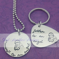 Mommy/Father to an angel-- Memorial Set, Keepsake Jewelry, Baby Loss Gift For Dad/Mom