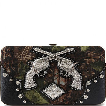 Camo: Crossed Guns Wallet