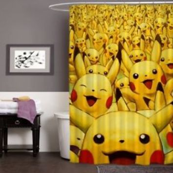 "New Pikachu Pokemon Limited Edition High Quality Shower Curtain 60"" x 72"""