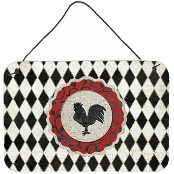 Rooster Harlequin Black and white Wall or Door Hanging Prints