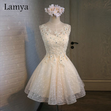 Lamya Cheap Women Custom Color Short A Line Sexy Elegant Cocktail Party Dresses 2016 Fashion Plus Size Homecoming Dress EV2705