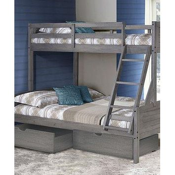 Madison Twin over Full Bunk Bed with Drawers