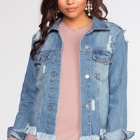 In Distress Denim Jacket
