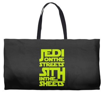 Jedi On The Streets Sith In The Sheets Weekender Totes
