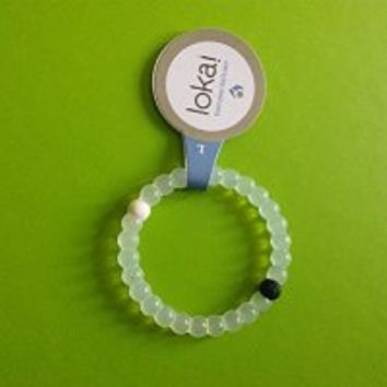 Lokai Bracelet - Clear / White - Medium