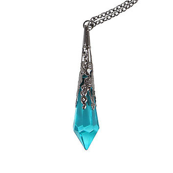Hematite & Teal Crystal Necklace