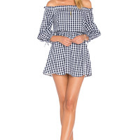 Lovers + Friends X REVOLVE Get Lost Dress in Medium Blue Gingham
