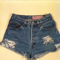 Custom Levi high waisted vintage shorts size by LindsayLouVintage