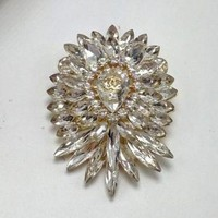 ONETOW Chanel Women Fashion Rhinestone Crystal Brooch