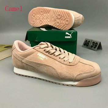 PUMA Roma Basic Women Casual Running Sport Shoes Sneakers Camel G-MPYDX
