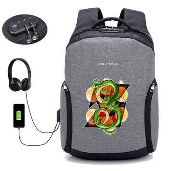 Anime Backpack School USB Charge Anti-theft Backpacks Japan kawaii cute Dragon Ball Z backpack student book backpack teenagers men Travel backpack package AT_60_4