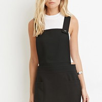 Contemporary Buttoned Overall Dress