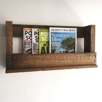 Handmade Pallet Wine Rack, Magazine Rack, Rustic, Decor, Book Shelf, Reclaimed, Home, Office, Kitchen, Repurposed, Wood, Furniture, Holiday