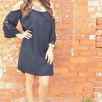 Here Without You Dress: Black/Lace