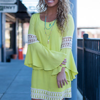 Bell Craze Dress, Lime