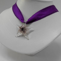 Starfish Hand-blown Glass & Silky Cord Necklace