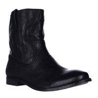 FRYE Anna Shortie Flat Boots, Black, 5.5 US